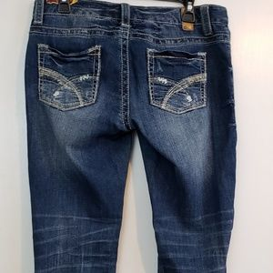 Maurice's  flare leg distressed jeans sz 9/10